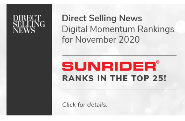 Sunrider Achieves Spot in Top 50 Digital Momentum Rankings